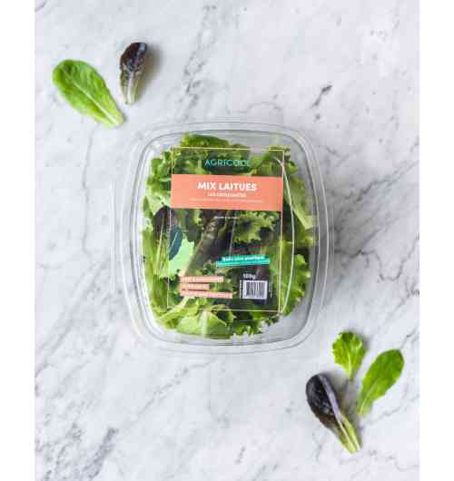 Lettuce Mix - Our Lettuce Mix is fresh, pesticide-free, local, and last but definitely not least, 100% delicious. Varieties : Oak-leaf lettuce, Batavia, Romaine.