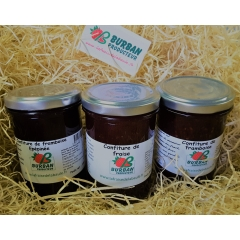 confiture fraise/framboise/framboise épépinée - <p>Our jam is handcrafted with selected fruits at maturity to guarantee a quality and incomparable taste. 60% fruit, 36% crystal sugar and 4% citric acid and apple pectin</p>
