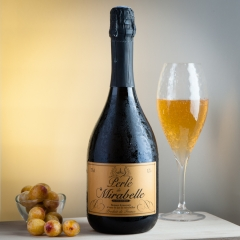 Perlés  - <p>sparkling wines , (12° alcohol) , made with pure juice of Mirabelle , or cherry, or raspberry ou redcurrant. drink it fresh like a champagne, for aperitive or for dessert.</p>