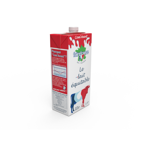 """whole milk as before - In most traditional UHT whole milk, the percentage of fat in cow's milk is standardized to 3.5% while it naturally varies according to the time of year from 3.6% to 4.3%. So find in this milk """"as before"""" the natural variation of fat depending on the season! Ideal for cooking!"""