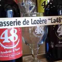 Craft beers BRASSERIE DE LOZERE - LA 48 - Craft beers with pullers and bottles