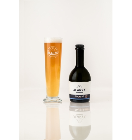 Alaryk Blanche / Weizen - <p><em><strong>This fruity white ale is naturally hazy, it is brewed in the spirit of Bavarian whites, by high fermentation and is unpasteurised.</strong></em></p>