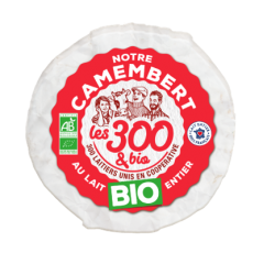 Our camembert - Camembert made with 100% french whole milk and a touch of cream. In a  250g pack.  The cardboard is 100% made out of recyclable materials and its certified FSC cheese paper : our camembert has an environmental friendly packaging.