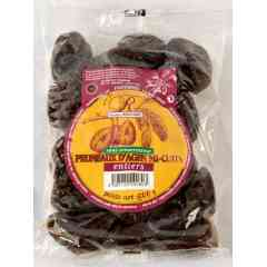 Premium semi dehydrated Agen prune PGI , unsorbated - <p>The semi dehydrated prune PGI without preservative is from some traditional production and process recipes. The plum used is harvested at maturity from the heart of the harvest. The plum is dried at 35% of moisture and not rehydrated then. This natural prune is without preservative and pasteurised.</p>