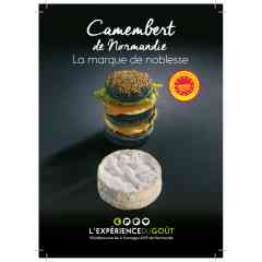 "Camembert de Normandie - Soft cheese, made with cow's raw milk, soft-ripened cheese. Under the European ""Protected Designation of Origin"" official label"