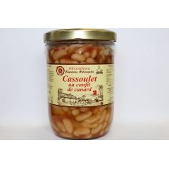 CASSOULET IN THE DUCK CONFIT - <p><strong>Presentation</strong> : jar 765g (for 2 persons)</p>