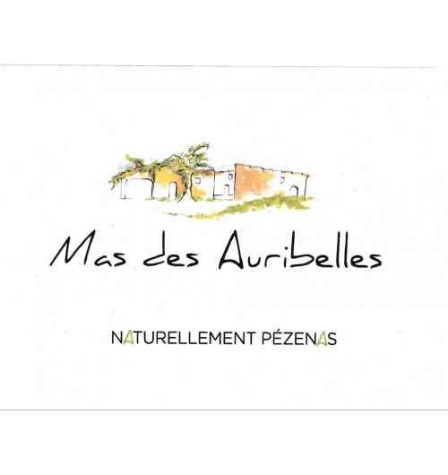 MAS DES AURIBELLES cuvée Naturellement Pézenas - PDO LANGUEDOC PEZENAS 50% Grenache 50% Syrah Wine without input without added sulfite vinified and matured in oak barrels