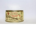 ESPELETTE CHILI PATE - <p><strong>Presentation: </strong>Can 1/4 Weight 200g (for 4 persons)</p> <p><strong>Ingredients: </strong>Throat, poultry liver, red pepper, eggs, milk, Espelette chili (1%), nutmeg, salt and pepper.</p> <p><strong>Preparation: </strong>The Espelette chili pate is prepared at the heart of a gastronomic region.</p> <p><strong>Way of tasting the product:</strong> Serve lightly chilled.</p>
