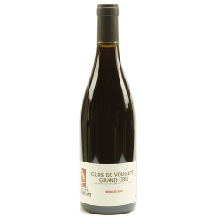 """Clos de Vougeot Grand Cru - From the town of Vougeot, the plot """"Clos de Vougeot"""" is the largest plot in this small village. A very intense and full-bodied wine. A taste of red and black fruits mix. On the palate, it is a rich, mellow, fine and elegant flavor. It is a long-lasting wine (from 10 to 20 years)."""