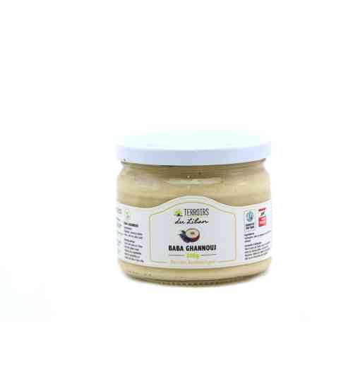 Baba ghanouj - 300g - Eggplant and tahini (sesame cream) spread Served with olive oil and bread. Pairs well with grilled meat and vegetables. A perfect spread for toasts and pitas; and a tasty appetizer dip.
