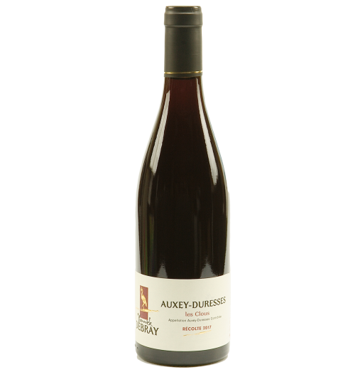 """Auxey-Duresses """"Les Clous"""" 2018 - Its ruby dress neither too light nor too dark, holds a perfect balance. Its taste is rich in small black fruits (blackcurrant, blackberry, blueberry) and floral aromas (like peony) very pleasant on the palate this remains a light wine that can be drunk easily."""