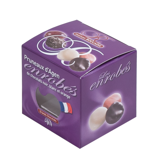 Prune coated in chocolate ( plain, white and orange) - <p>Maison Roucadil offers a range of prunes and other dried fruits coated in plain /white or orange chocolate.</p>