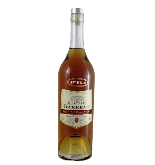VERY SPECIAL (VS) - Cépage : Ugni Blanc - 40% - 700 ml  Golden colour. Nose : floral with limeflowers and plums notes. In mouth : smooth with hints of hiacinth lime flowers. Pleasant and well balanced, easy to discover.  A young Armagnac made for cocktails, aperitives (« on the rocks » or « straight »). Can be also used as a digestive, for cooking or as a « trou gascon »  Ideas for cocktails :  - Paradise : Put in a glass : 3 cl Armagnac, 1 cl Lemon juice, 1 cl passion fruit syrop.  - Armagnac Sour : Put in a glass : 3/4 Armagnac, 1/4 Lemon juice, a little cane syrop.  With Armagnac : « terrine de foie gras » in Armagnac, Scallop « flambées » in Armagnac, Pigeon in Armagnac, Apples with Armagnac...