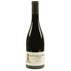 "Nuits Saint Georges 1er ""Les Crots"" 2018 - The Nuits Saint Georges very well known in Burgundy, does not weaken its reputation. Its intense purple colour offers to the nose a bouquet of black fruits and liquorice. Has the dripping texture, powerful and full-bodied. The 2018 vintage has a great potential to guard."