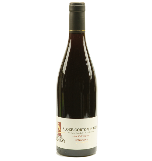 """Aloxe-Corton 1er cru """"Les Valozières"""" 2018 - From the famous city: Aloxe-Corton. The plot """"Les Valozières"""" is located right next to a plot of great vintage. One can therefore find a nobility and similar aromas. Aloxe-Corton offers a bouquet of red fruits (raspberry, strawberry, cherry) raised on spice notes to obtain a firm and subtle taste. With age, its accents intensify: peony and jasmine. Robust, racy and fruity, it can open after 3 to 5 years of guard, on a firm and structured body."""