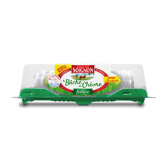 The unripened fresh log 150g - With its light and soft taste, the unripened fresh log pleases both adults and children.  It enables to initiate children to the richness and the flavours of goat cheese.