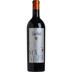 """Vignobles Bonfils - Château Capitoul - Maëlma - GRAPES VARIETIES Syrah 56%, Grenache Noir 39%, Carignan 5%  APPELLATION AOP La Clape Red  SOILS Urgonian limestone,  limestone clay and stony soils   Château Capitoul is a gem which lies between the sea and the """"garrigue"""". The view on the vineyards loosing themselves in the infinity of the valley before melting into the horizon between salt lakes and blue mountains is breathtaking. The vineyard of Chateau Capitoul goes back to the 14th century, when it was exploited by the Cathedral of Narbonne, which gave its name to the Chateau.   TERROIR Ideally located in the middle of the Languedoc's largest natural site, viticulture is practiced and reasoned, producing wines of highest quality and reflecting the best that the """"Appelation La Clape"""" has to offer. In 2015, the appellation La Clape was accredited """"Grand Cru"""", thus joining other prestigious, internationally renowned French appellations. The grapes for this wine come from vines planted on urgonian limestone, limestone clay and stony soils.  VINIFICATION Yields are deliberately low, around 25 hl/ha, in order to obtain maximum concentration and complexity. The grapes are harvested with great care, with double sorting, before and after destemming, 50% vinified in full vinification in barrels for 1 and a half months then aged in new barrels and one-wine barrels for 12 to 18 months.   TASTING NOTES Magnificent dense dark red colour. The nose is powerful and at the same time elegant, complex. With superbly silky tannins, this well structured wine is a symphony of aromas encompassing black cherry, raspberry, blackcurrant and very delicate smoky notes.   SOMMELIER'S ADVICE Food and wine pairing: deer pâté, wild boar in sauce, Creole red beans, Roquefort, Brie with truffles. Serving temperature: 16-18°C Opening advice: decant 2 hours before serving Aging potential: 7 years"""