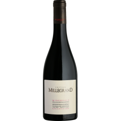 Vignobles Bonfils - Château Millegrand - Fût - GRAPES VARIETIES Syrah 70%, Grenache 20% Carignan 10%  APPELLATION AOP Minervois Red  SOILS Gravelly plateau with clay hillocks   With its 200 hectares, Château de Millegrand is one of the largest wine domains in the Languedoc. It stretches the length of the Canal du Midi in the commune of Trèbes in the department of Aude. It was given to the Abbey of Lagrasse in the 12th century and belonged to the clergy up until 2003 when the Bonfils family acquired it following an agreement with the Bishop of Carcassonne. TERROIR Comprised of a hamlet just above the Canal du Midi, the property is shared across a gravelly plateau with clay hillocks which produces AOC Minervois an alluvial plain which produces Vins de Pays.  VINIFICATION The grapes are hand picked during the harvest. The stems are removed and the grapes are crushed before being placed in the cuves where they shall macerate for 20 days. The fermentation step lasts approximately 14 days and is done under temperature control (always under 28°). Maceration on the lees lasts for up to 5 weeks for the Carignan and the Shiraz. The cap which forms on the top of the cuve is punched with the juice which is taken from underneath to do so. This helps extractthe best of the grapes without spoiling the softness of the tannins. The malolactic fermentation is done in the cuves or in oak barrels, depending on the grape variety. The final blending is done with the wines aged in cuves and the wines which have spent 12 months ageing in oak barrels.   TASTING NOTES Magnificient deep red colour with delicate copper tints. The nose is bursting with aromas of ripe fruit, under- wood. In the mouth, the notes of wood are delicate and go perfectly with the freshness of this wine.   SOMMELIER'S ADVICE Wine & Food pairing: honey glazed lamb squares, sweet potato purée, a variety of cheese platters. Serving temperature: 16-18°C Aging potential : 5 years