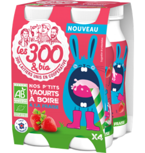 Little yogurt drink - Yogurt fruit drink made with 100% french whole milk and a touch of cream. In a 4 x125 mL pack.