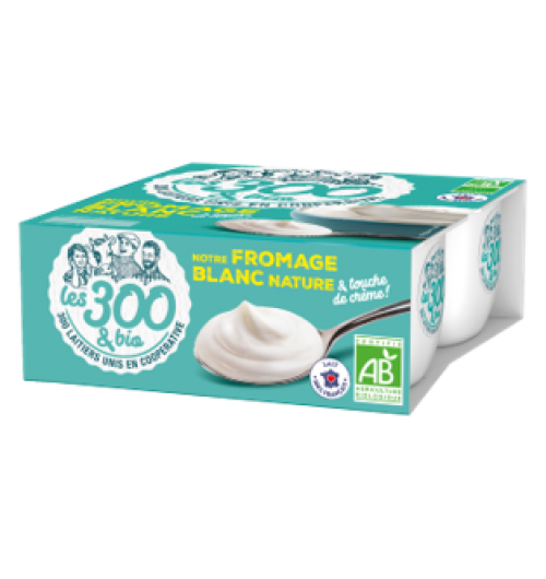 Cottage cheese - Cottage cheese made with 100% french whole milk and its touch of cream. In a 4x100g pack.  Our cottage cheese is soft, smooth and creamy.  Perfect for milky desires since it is very generous.