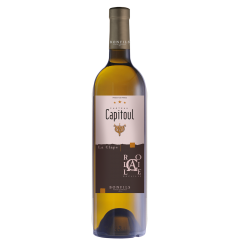 """Vignobles Bonfils - Château Capitoul - Rocaille - white - GRAPES VARIETIES Bourboulenc 40%,  Marsanne 30%, Grenache Blanc 20%, Roussane 5%, & Viognier 5%  APPELLATION AOC La Clape White  SOILS Urgonian limestone, limestone clay and stony soils   Château Capitoul is a gem which lies between the sea and the """"garrigue"""". The view on the vineyards loosing themselves in the infinity of the valley before melting into the horizon between salt lakes and blue mountains is breathtaking. The vineyard of Château Capitoul goes back to the 14th century, when it was exploited by the Cathedral of Narbonne, which gave its name to the Château.   TERROIR Ideally located in the middle of the Languedoc's largest natural site, viticulture is practiced and reasoned, producing wines of highest quality and reflecting the best that the """"Appellation La Clape"""" has to offer. In 2015, the appellation La Clape was accredited """"Grand Cru"""", thus joining other prestigious, internationally renowned French appellations.  VINIFICATION Vinified in concrete vats with skin maceration, double settling and matured on fine lees for 3 to 6 months with stirring every day at the end of fermentation and then once a week during maturation.  TASTING NOTES The great aromatic complexity of this wine, underlined by subtle and elegant oaky notes, enables it to accompany an extraordinary range of dishes. The palate abounds in white fleshed fruit, peach, hints of spice, resin, and honey.   SOMMELIER'S ADVICE Food and wine pairing: sweet spice tagine, roasted turkey breast with vegetable stuffing or roasted corn on the cob with coconut and curry. Serving temperature: 12-14°C  Aging potential: 4 years"""