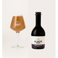 Alaryk Triple Grain Bio - <p>Brewed with barley, wheat malts and raw rye, this strong ale is full of malt and fruits flavours, and well balanced with its delicate taste and its strengh.</p>